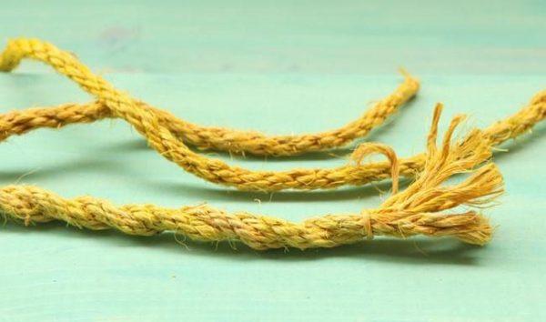 Тонкие веревки можно сплести