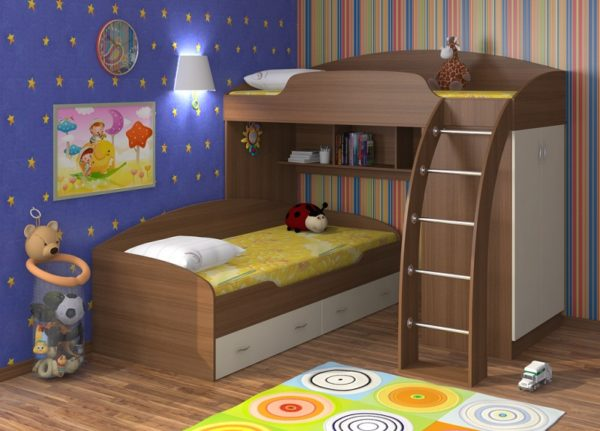 Угловая модель, как уже было сказано, изготавливается из сосны, дубовых материалов или другого вида древесины