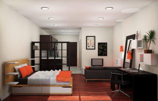 Визуальное зонирование позволяет легко различать определенные сегменты помещения