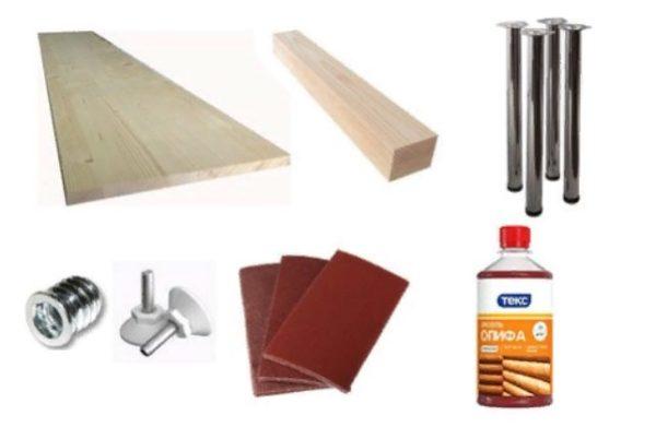 Все необходимое для изготовления стола