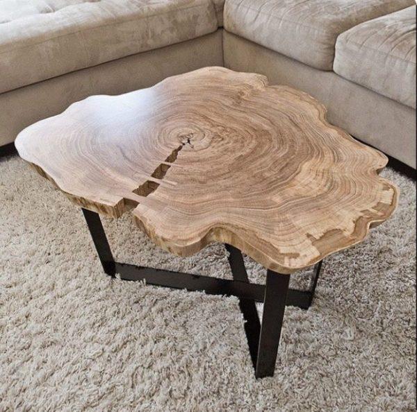 Журнальный стол из спила дерева