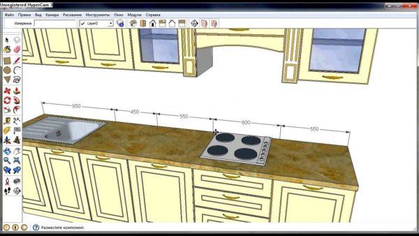 Проект кухни в SketchUp