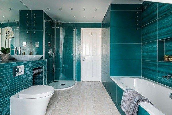 Варианты отделки ванной комнаты плиткой: фото
