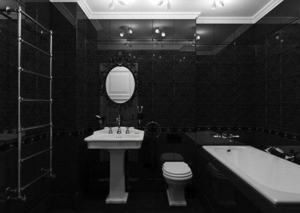 Черная ванна может