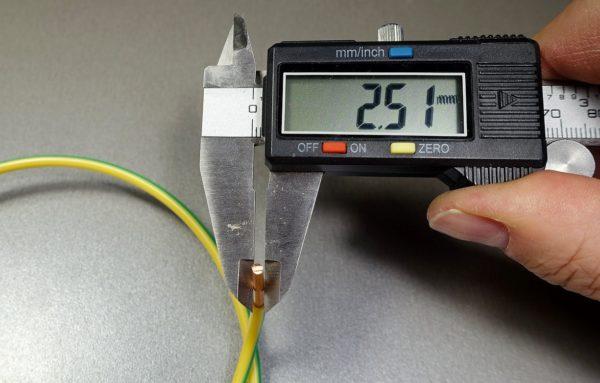 У недобросовестных производителей сечение кабеля не всегда соответствует заявленным значениям