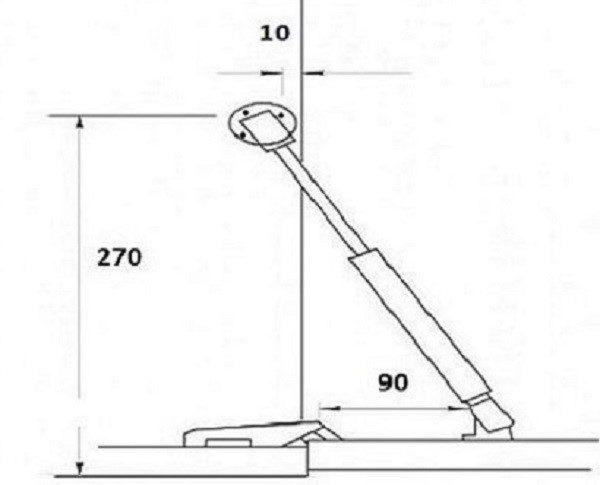 Чертеж-разметка под установку газлифта