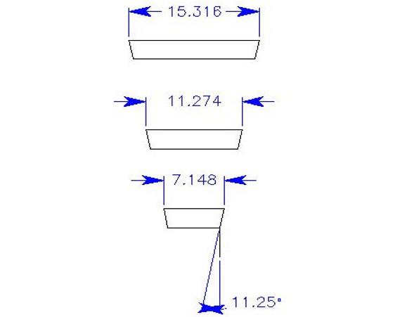 Размер брусков для угловой секции