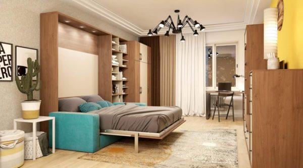 Шкаф-кровать, совмещенная с диваном