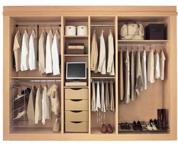 Правильное зонирование шкафа повышает его функциональность