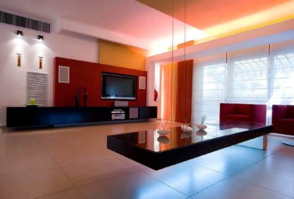 Пример освещения гостиной