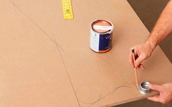 Прорисовываем линии конструкции