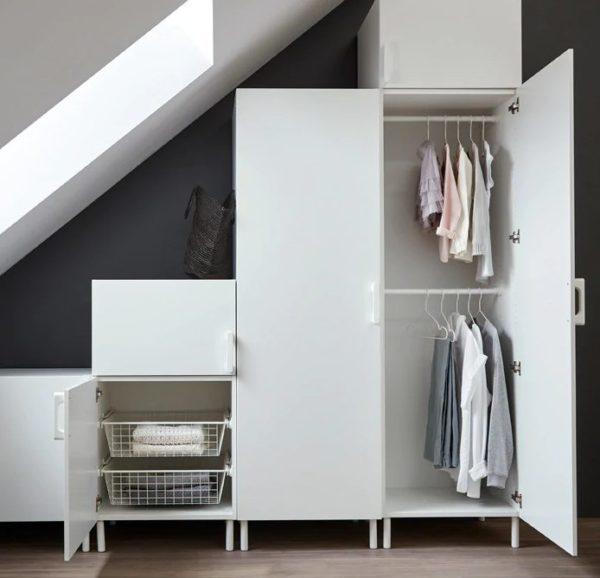 Гардеробная система «Опхус»: вариант установки под лестницей