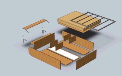 Шаг 1 – стыковка рамы и корпуса