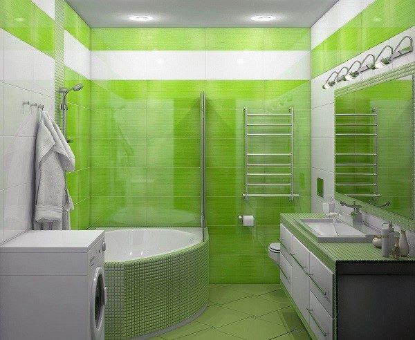 Зеленая ванная будет пробуждать вас каждое утро и настраивать на победы