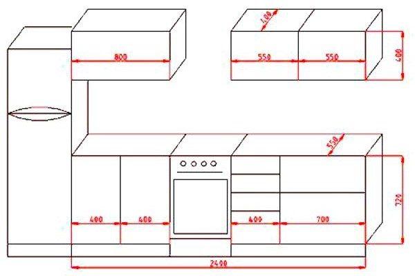 Как и шкафы нижнего сегмента кухни, верхние элементы гарнитура имеют свои стандартизированные величины