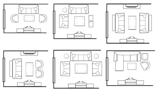Варианты расстановки мебели