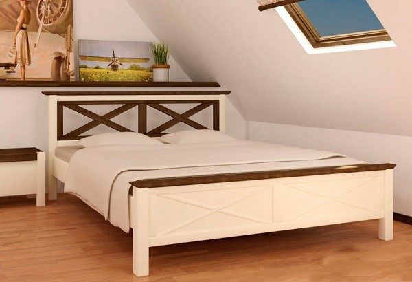 Кровать из сосны в романтическом стиле «Прованс» - лучшее решение для спальни