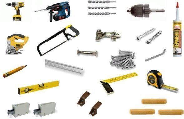 Необходимо заранее подготовить все инструменты