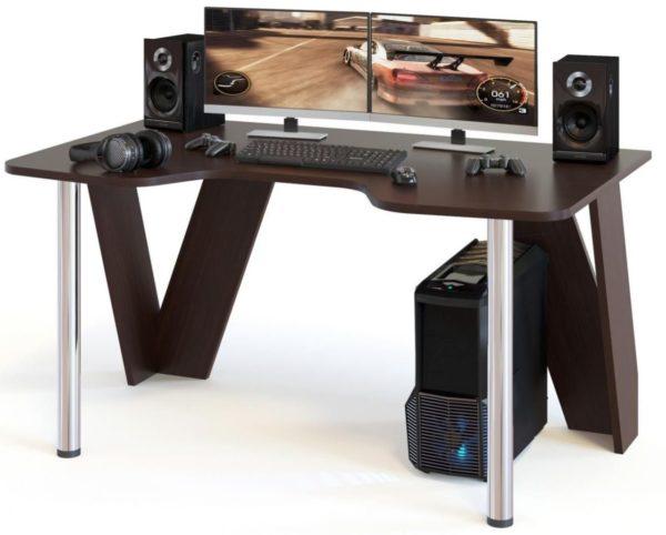 Акустика может размещаться непосредственно на столе