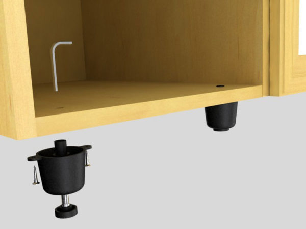 Автономно регулирующие ножки для шкафа с раздвижными дверьми