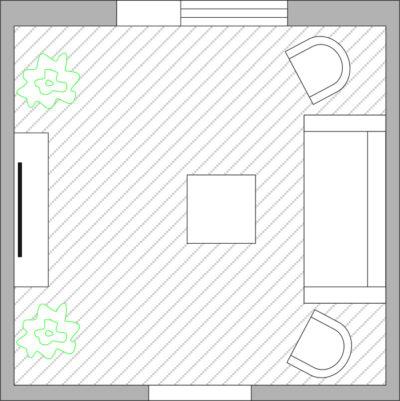 Шаг 1: вычертить план помещения в масштабе