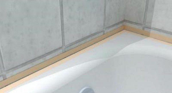 Не существует стандартных проектов ванных комнат, поэтому, нередко между ванной и стеной образуется пустое пространство
