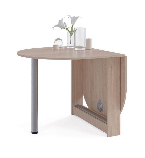 Столы-книжки могут иметь скромные размеры даже в разложенном виде