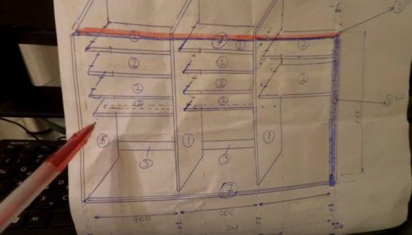 Детальный чертеж поможет точно рассчитать материалы
