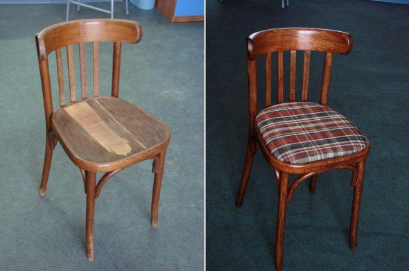 Реставрация стула: до и после