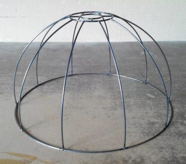 Каркас определяет форму абажура и его дизайн
