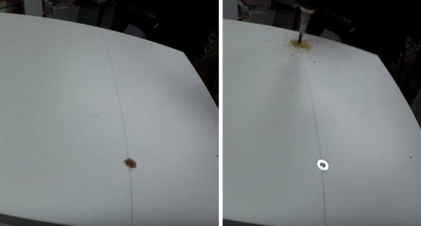 В боковинах высверливают по два отверстия под конфирматы