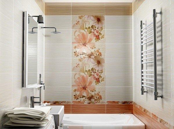 Цветочные узоры вносят гармонию в обстановку помещения