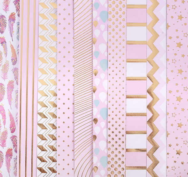 Набор бумаги для скрапбукинга с фольгированием