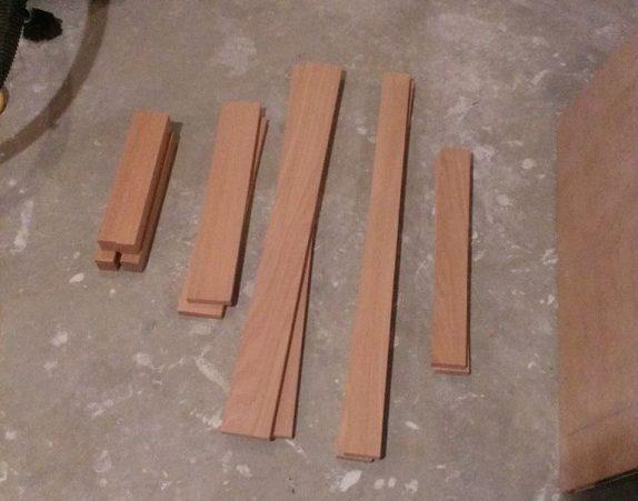 Для создания тумбы понадобятся доски разной длины