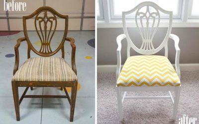 Декоративным элементом может служить текстильная обивка сидения с интересным рисунком