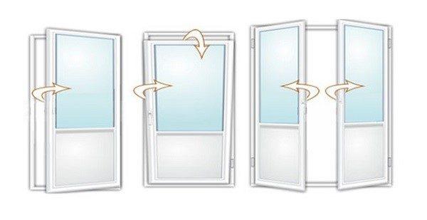 Пример, как может открываться пластиковая дверь