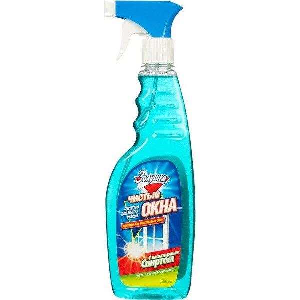 Средство для мытья окон – вещество, действующее деликатно, которое прекрасно удаляет загрязнения от скотча с поверхности окон и других стеклянных изделий