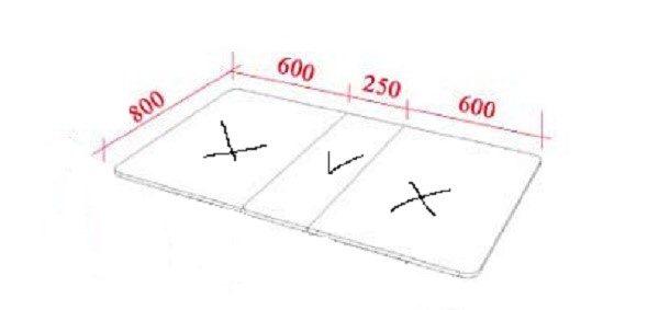 Для начала рассчитаем параметры столешницы, по-отдельности определив величину ее широких или узких деталей