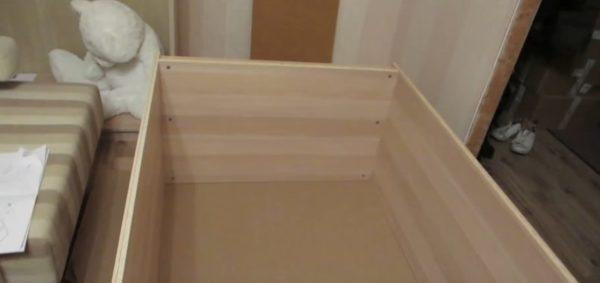 Так будет выглядеть готовая основа шкафа