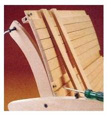 Этап 7: сборка сидения и спинки
