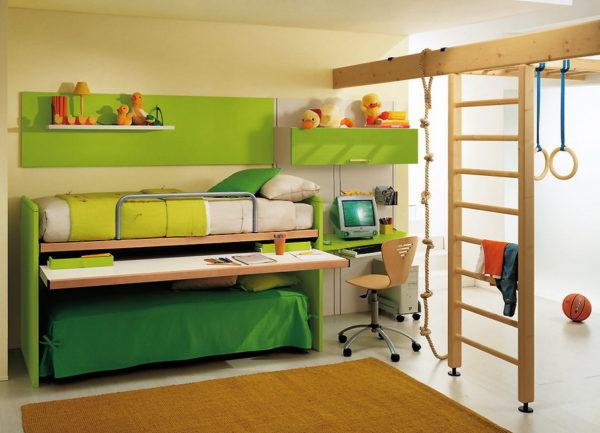 Вариант многофункциональной мебели для детской