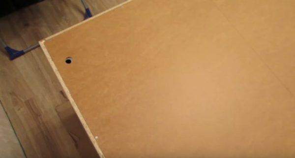 Так будет выглядеть закрепленная стенка