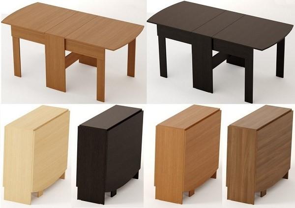 На рынке представлено множество разновидностей столов-книжек, однако, как правило, они все очень похожи друг на друга, поэтому большого разнообразия ждать не стоит