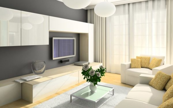 Светлая мебель визуально делает помещение просторнее