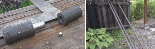 Для стоек используют шарниры и профильные трубы небольшого сечения