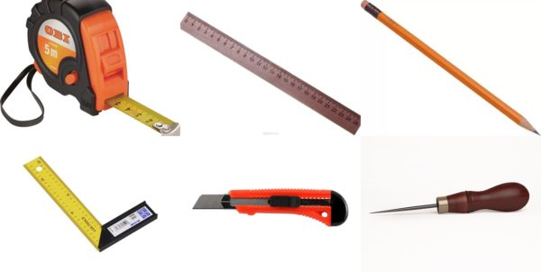 Инструменты для определения размеров и нанесения разметки
