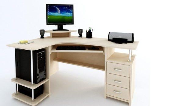 Угловой стол для компьютерной техники