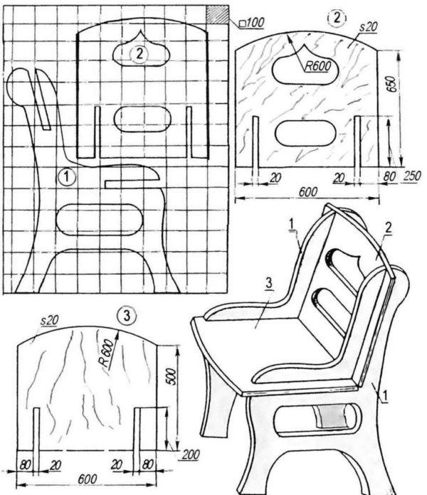Детали для изготовления мебели из фанеры