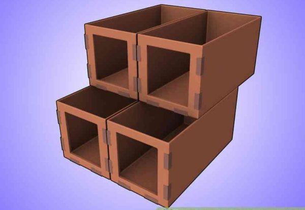 Еще один вариант закрепления коробок
