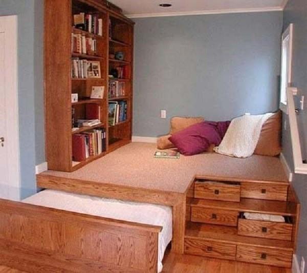 Кровать-подиум с выдвижным основанием